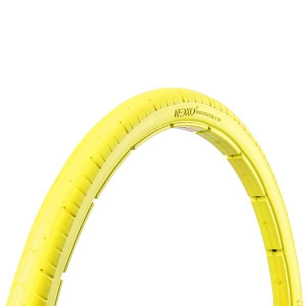 28 Zoll Fahrrad Reifen airless tubeless Mantel pannensicher 35-622 gelb