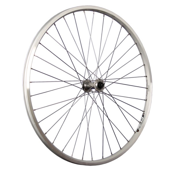 26 Zoll Vorderrad Ryde Zac19 / Shimano Deore Nabe HB-M530 - silber