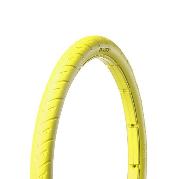 20 Zoll Fahrrad Reifen airless tubeless Mantel pannensicher 40-406 gelb