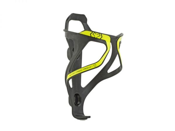 Fahrrad Flaschenhalter ACP-X26 Carbon 29 Gramm schwarz / gelb