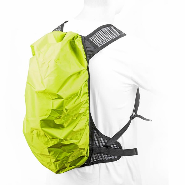 Fahrrad Trekking Regenschutz universal für Rucksack wasserdicht grün-gelb