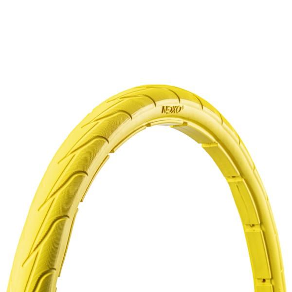 28 Zoll Fahrrad Reifen airless tubeless Mantel pannensicher 40-622 gelb