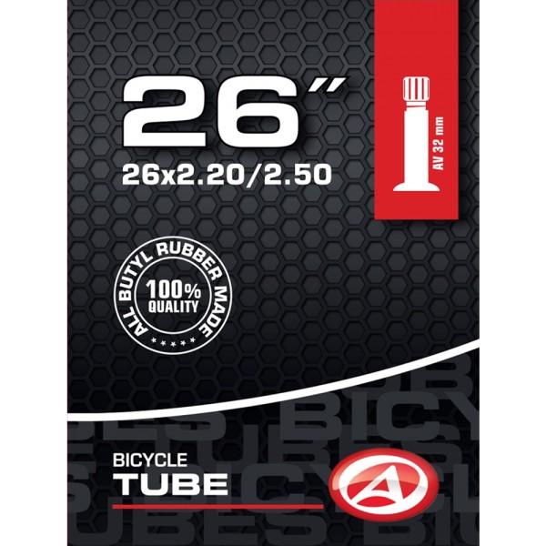 Fahrrad Schlauch Butyl 26 Zoll AV Autoventil 32mm 50/65-559 MTB ATB City
